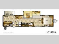 Floorplan - 2012 CrossRoads RV Hampton HT355SB