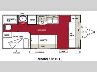 Floorplan - 2012 Forest River RV Wildwood X-Lite 181BH