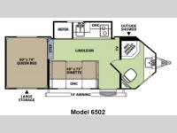 Floorplan - 2012 Forest River RV V-Cross Vibe 6502