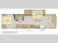 Floorplan - 2013 Fleetwood RV Excursion 33A