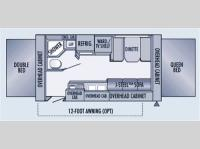 Floorplan - 2006 Jayco Jay Feather EXP 19H