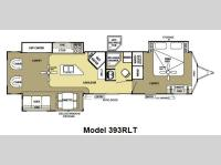 Floorplan - 2012 Forest River RV Salem Villa Estate 393RLT
