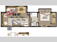 Floorplan - 2012 Northwood Arctic Fox 29-5T