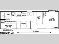 Floorplan - 2006 Skyline Nomad 247 Ltd.