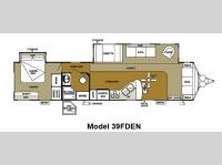 Floorplan - 2013 Forest River RV Wildwood DLX 39FDEN