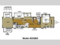 Floorplan - 2013 Forest River RV Wildwood DLX 402QBQ