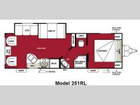 Floorplan - 2013 Forest River RV Wildwood X-Lite 251RLXL