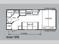 Floorplan - 2013 Skyline Koala 18RB