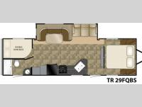 Floorplan - 2013 Heartland Trail Runner SLT 29FQBS SLT