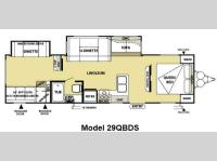 Floorplan - 2013 Forest River RV Salem 29QBDS