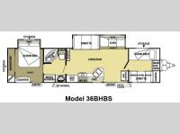 Floorplan - 2013 Forest River RV Salem 36BHBS