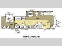 Floorplan - 2013 Forest River RV Salem Villa Estate 392FLFB