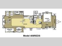 Floorplan - 2013 Forest River RV Salem Grand Villa 408REDS