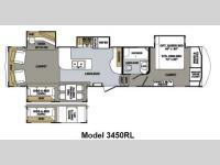 Floorplan - 2013 Forest River RV Cardinal 3450RL
