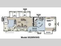 Floorplan - 2013 Forest River RV Flagstaff Classic Super Lite 8528RKWS