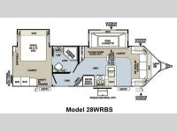 Floorplan - 2013 Forest River RV Flagstaff V-Lite 28WRBS