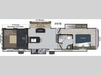 Floorplan - 2013 Keystone RV Raptor 310TS