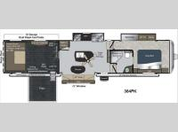 Floorplan - 2013 Keystone RV Raptor 384PK