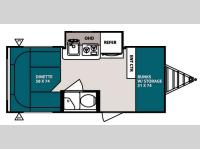 Floorplan - 2013 Forest River RV R Pod RP 176