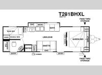 Floorplan - 2013 Forest River RV Wildwood 281BHXL
