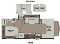Floorplan - 2013 Coachmen RV Leprechaun 220QB Chevy 4500