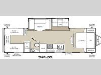 Floorplan - 2013 Coachmen RV Freedom Express 292BHDS