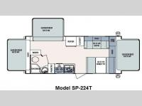 Floorplan - 2013 Forest River RV Surveyor Sport SP 224T