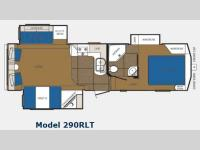 Floorplan - 2013 Prime Time Manufacturing Crusader 290RLT