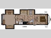 Floorplan - 2013 Keystone RV Sprinter 323BHS