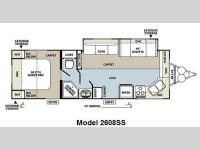 Floorplan - 2013 Forest River RV Rockwood Ultra Lite 2608SS