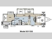 Floorplan - 2013 Forest River RV Rockwood Signature Ultra Lite 8311SS