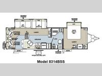 Floorplan - 2013 Forest River RV Rockwood Signature Ultra Lite 8314BSS