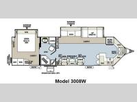 Floorplan - 2013 Forest River RV Rockwood Wind Jammer 3008W