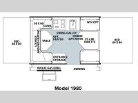 Floorplan - 2013 Forest River RV Rockwood Freedom Series 1980