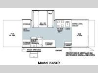 Floorplan - 2013 Forest River RV Rockwood Freedom Series 232XR