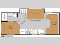 Floorplan - 2013 Thor Motor Coach Four Winds 24C