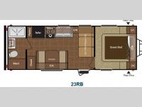 Floorplan - 2013 Keystone RV Hideout 23RB