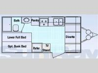 Floorplan - 2006 SunRay RV Smokey 19FRB