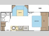 Floorplan - 2013 Lance Travel Trailers 1885