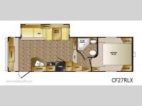 Floorplan - 2013 CrossRoads RV Cruiser CF27RLX