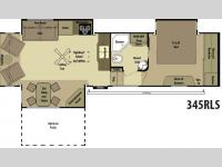 Floorplan - 2013 Open Range RV 345RLS