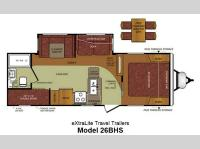Floorplan - 2013 Forest River RV Wildcat extraLite 26BHS