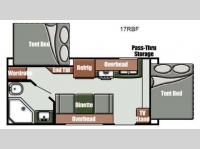 Floorplan - 2013 Gulf Stream RV Streamlite Sport 17 RBF