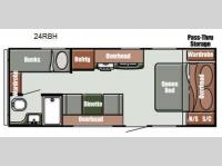 Floorplan - 2013 Gulf Stream RV Streamlite Sport 24 RBH