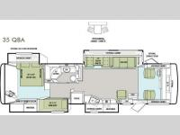 Floorplan - 2013 Tiffin Motorhomes Allegro 35 QBA