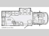 Floorplan - 2013 Leisure Travel Unity U24CB