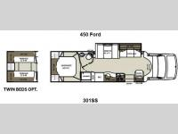 Floorplan - 2013 Coachmen RV Concord 301SS Ford