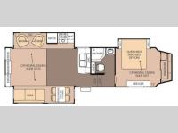 Floorplan - 2013 Forest River RV Cedar Creek Silverback 29RE