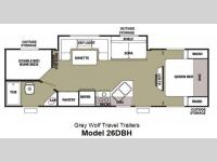 Floorplan - 2013 Forest River RV Cherokee Grey Wolf 26DBH