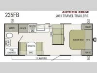 Floorplan - 2013 Starcraft  Autumn Ridge 235FB